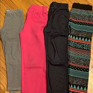 4 pairs of jeggings size 6